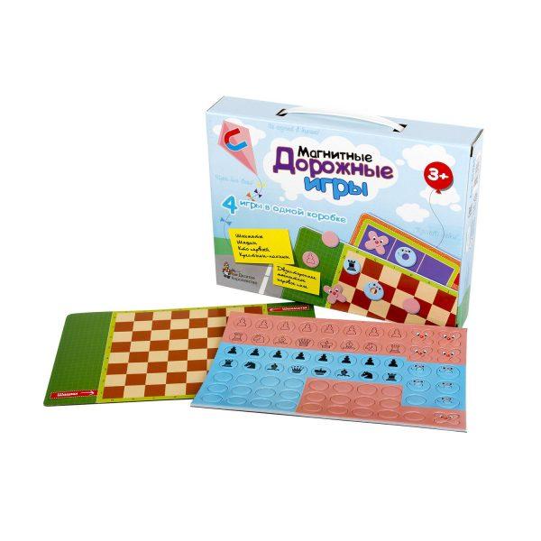 Игры магнитные дорожные (шахматы, шашки, кто первый, крестики-нолики)