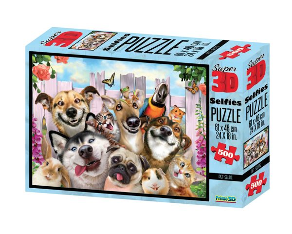 Стерео пазл. Собаки домашние питомцы (Super 3D Selfies Puzzle)