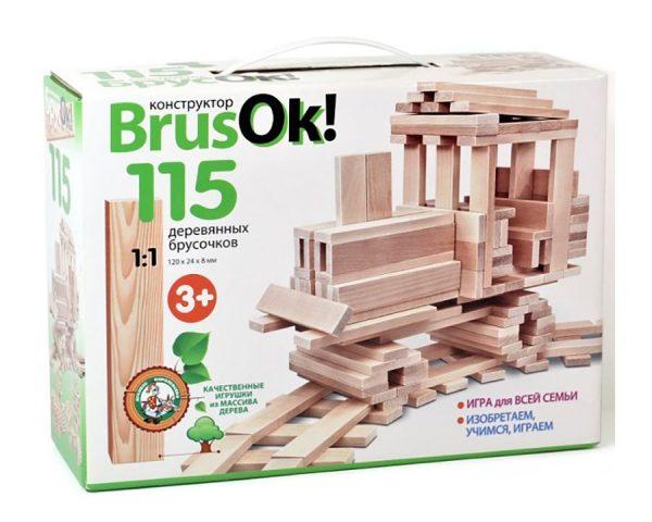 Конструктор деревянный BrusOk! 115 эл