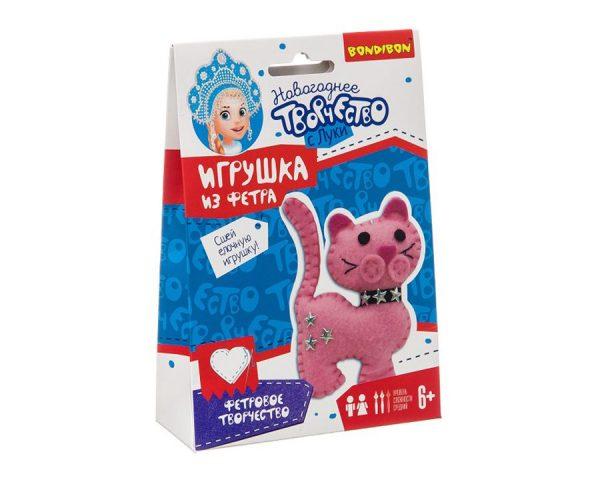 Ёлочные игрушки из фетра своими руками. Кошка.