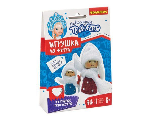 Ёлочные игрушки из фетра своими руками. Куколки.
