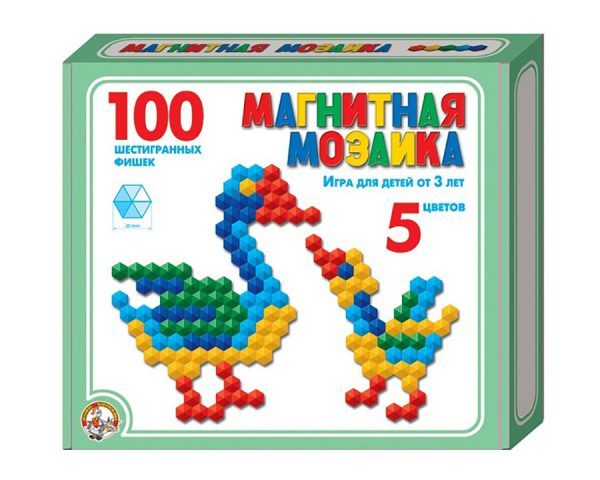 Мозаика магнитная шестигранная d20/5 цв/100 эл