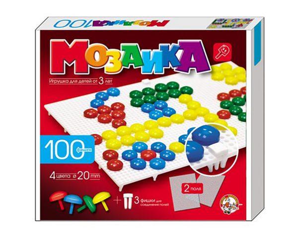 Мозаика d20/4цв/100 эл/2 поля