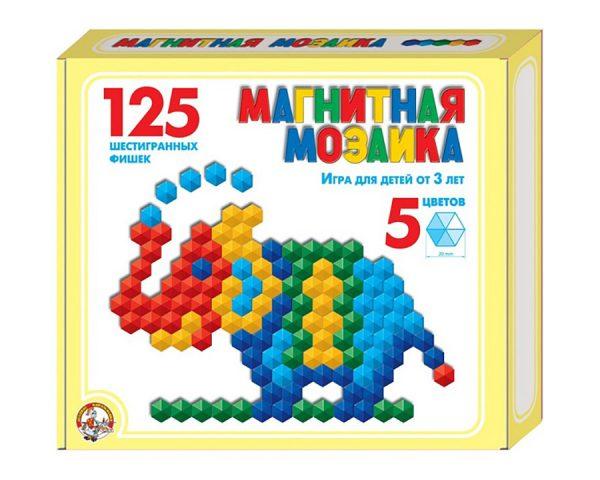 Мозаика магнитная шестигранная d20/5 цв/125 эл