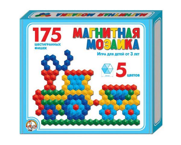 Мозаика магнитная шестигранная d20/5 цв/175 эл