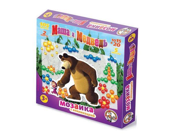 Мозаика с аппликациями «Маша и Медведь» d10, d15,d 20/105 эл