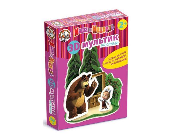 Мультик на столе 3D «Маша и Медведь» Школа