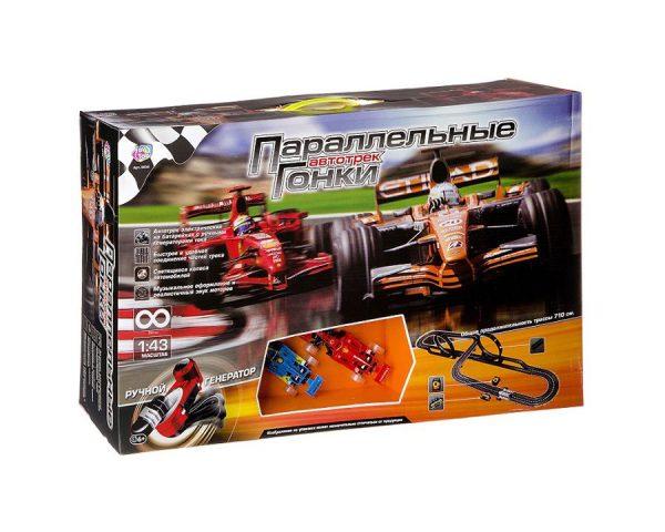 Игровой набор Автотрек Joy Toy «Параллельные гонки 7, 1м», 6+