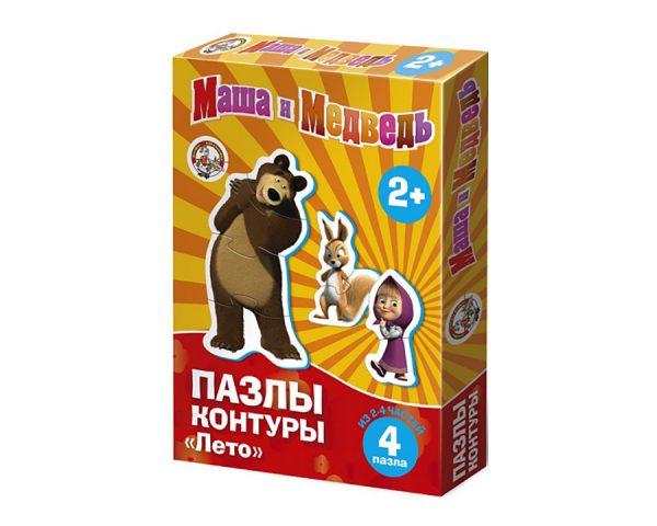 Пазлы-контуры «Маша и Медведь. Лето»