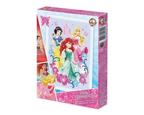 Рисунок с пайетками «Принцессы. Сверкающая сказка» Дисней
