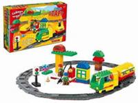 Железная дорога в наборе с конструктором Твой Старт