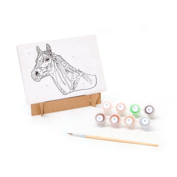 Рисуем по номерам «Лошадка»