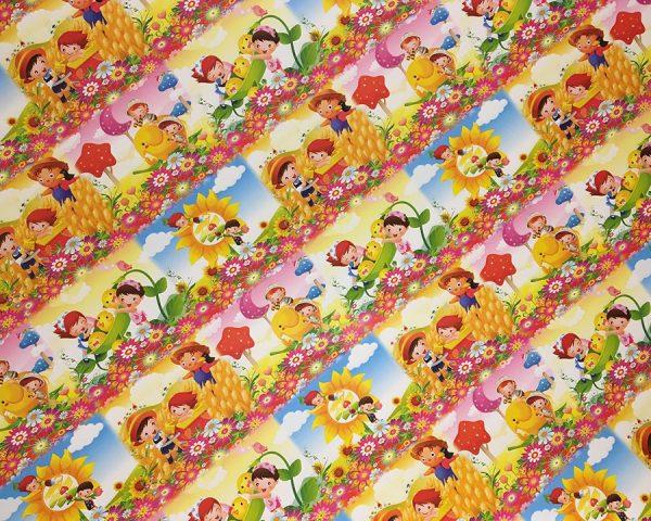 Упаковочная бумага «Дети на цветочной поляне» (PLDG-дет)
