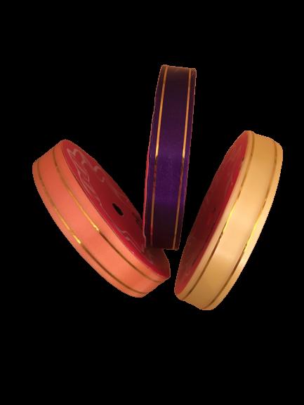 Лента полипроп. золотая полосаоднотонная , 1 метр в ассортименте