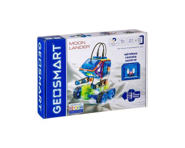 Магнитный конструктор GEOSMART «Лунный модуль на гусеничном ходу», с ик-управлением, 31 дет.