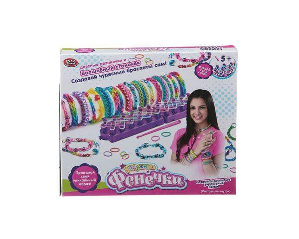 Набор для плетения из резиночек  со станком, Play Smart «Радужные Фенечки»