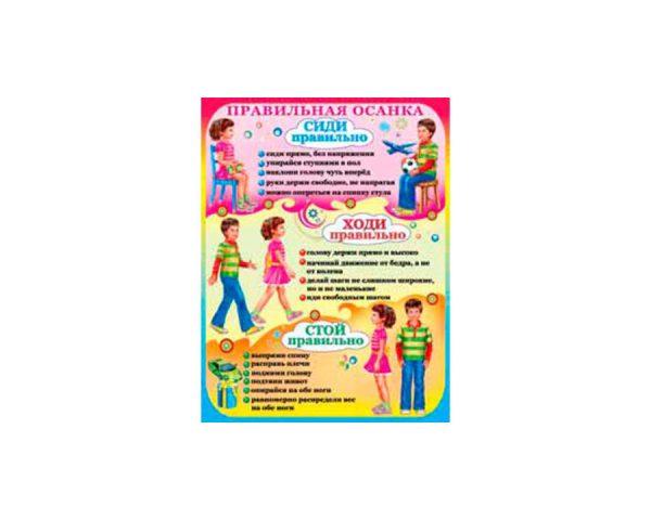 Плакат «Правильная осанка»