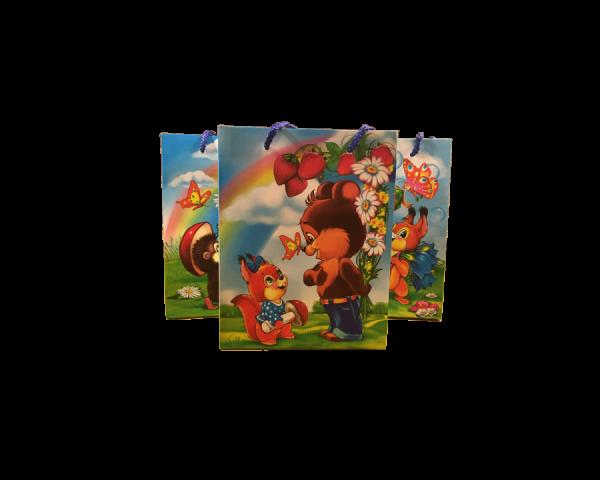 Подарочный бумажный пакет «Белочка и друзья»