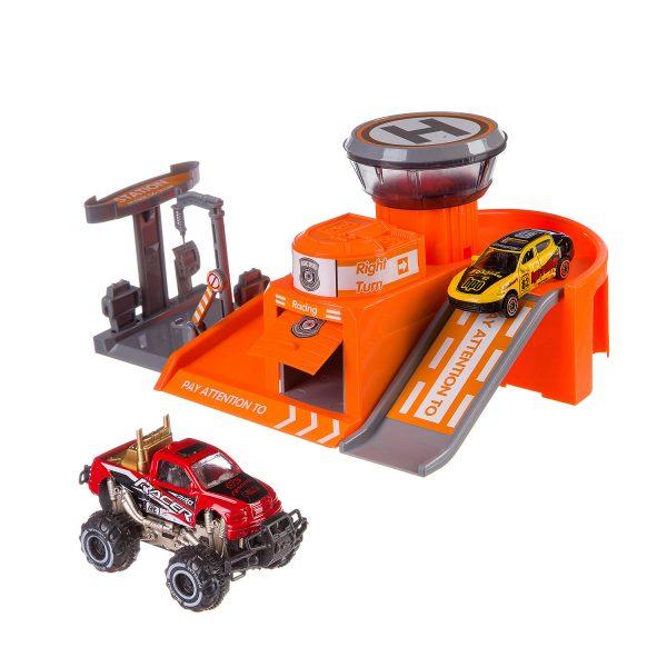 Игровой набор «Станция технического обслуживания гоночных металлических машин»