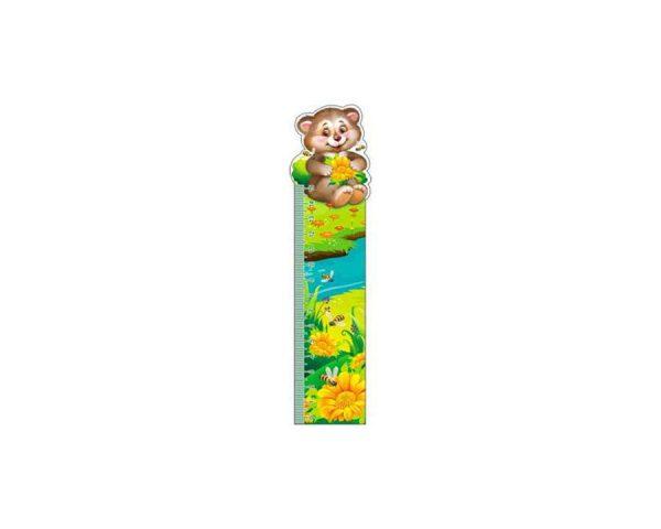 Закладка-линейка «Мишка с пчелами»