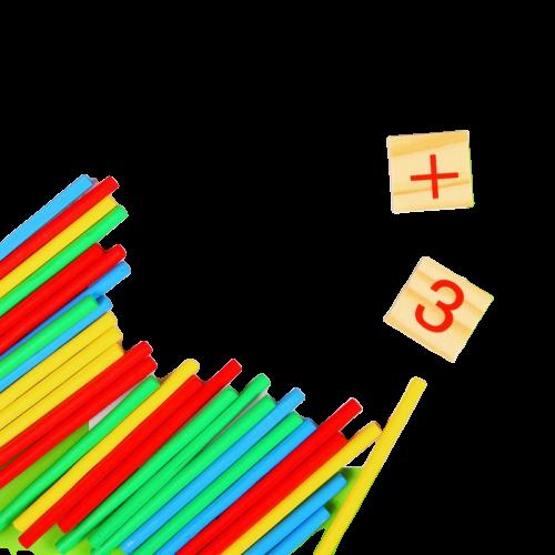 Набор для изучения счёта, палочки, плашки, досочка и маркер в наборе