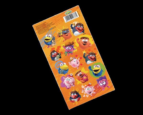 Наклейки детские декоративные СМЕШАРИКИ, оранжевые, 15х8 см