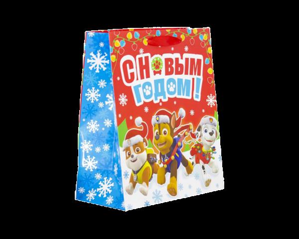 Пакет ламинат «С Новым Годом!», Щенячий патруль красный