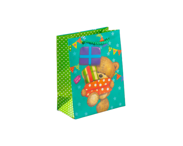 Пакет ламинированный «Просто для тебя» в горошек