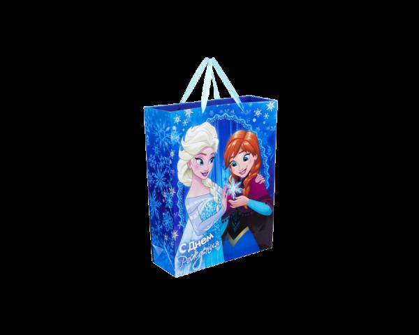Пакет подарочный «С днём рождения», Холодное сердце