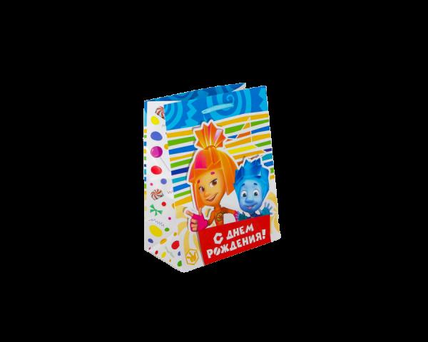 Пакет подарочный «С днём рождения!», Фиксики