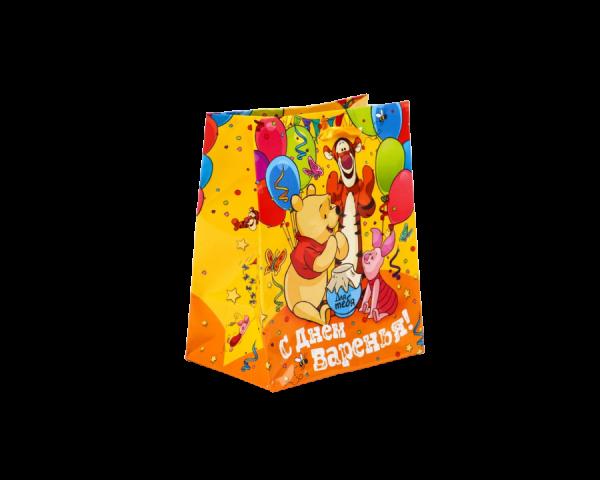 Пакет подарочный «С днём варенья!», Винни Пух
