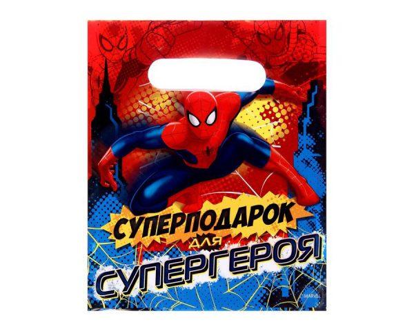 Пакет подарочный «Суперподарок для супергероя», Человек-Паук