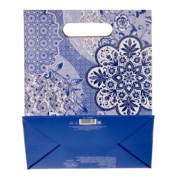 Пакет подарочный «Узоры»