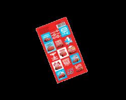 Наклейки детские «Время побеждать» Тачки, 15х8 см