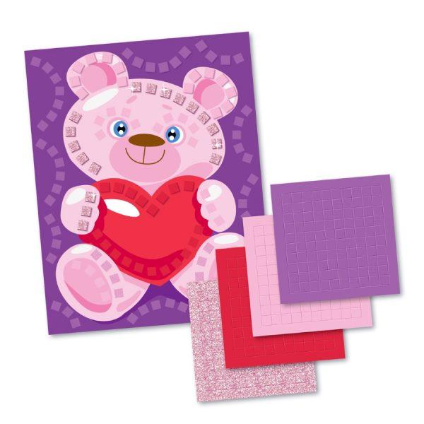 Аппликация «Мишка с сердцем» (4 цв, 200 эл)