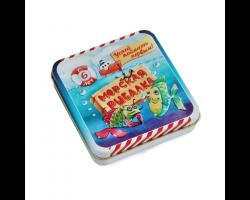 Игра настольная карточная «Морская рыбалка» (жестяная коробочка)