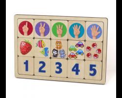 Игра развивающая деревянная «Считаем до пяти»
