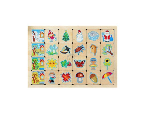 Игра развивающая деревянная «Времена года»