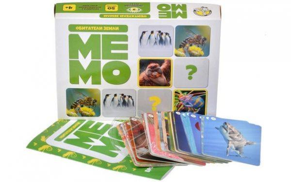 МЕМО «Обитатели земли» (50 карточек)