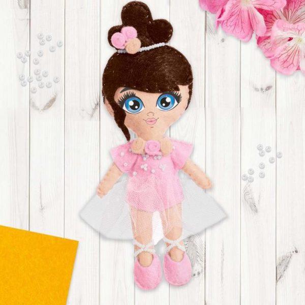 Игрушка из фетра, кукла «Балерина»