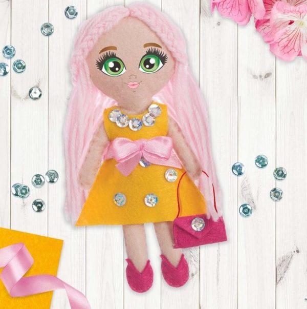 Игрушка из фетра, кукла «Модница»