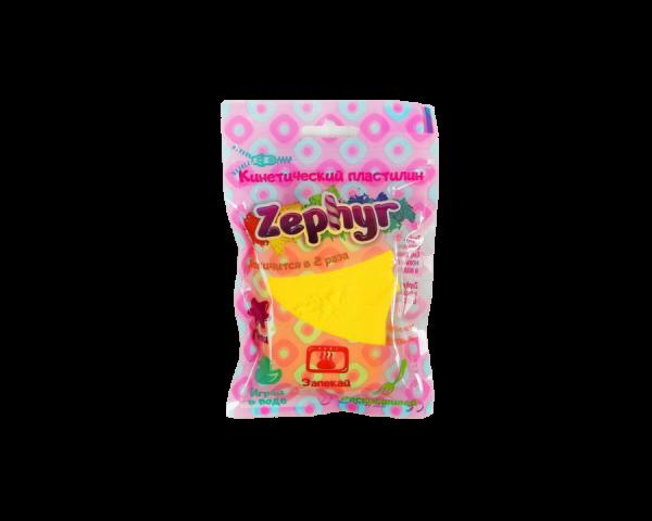 Кинетический пластилин «Zephyr» желтый 0,075 кг
