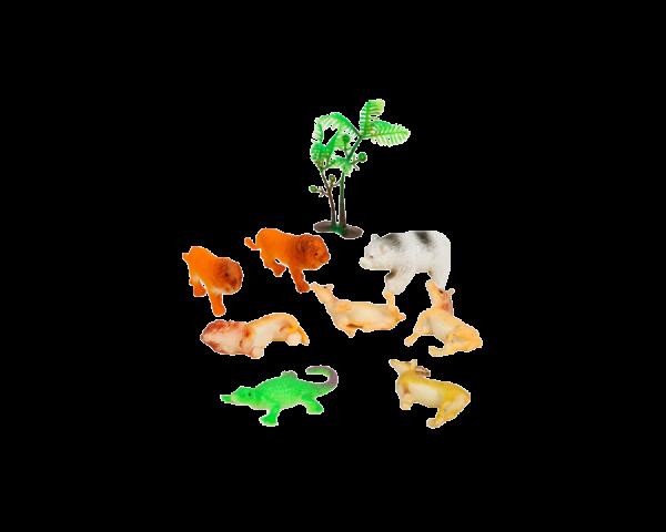 Растущие животные «Сафари», набор 8 шт + дерево