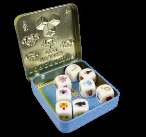 Говорящие кубики «Сказки» (жестяная коробочка)