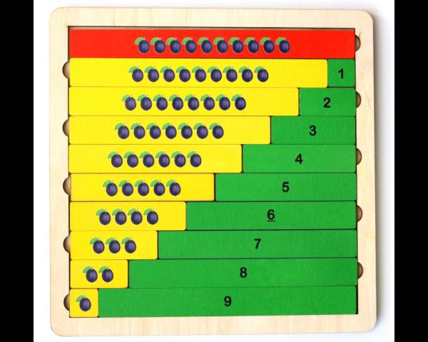 Пазл деревянный «Арифметика. Состав числа»