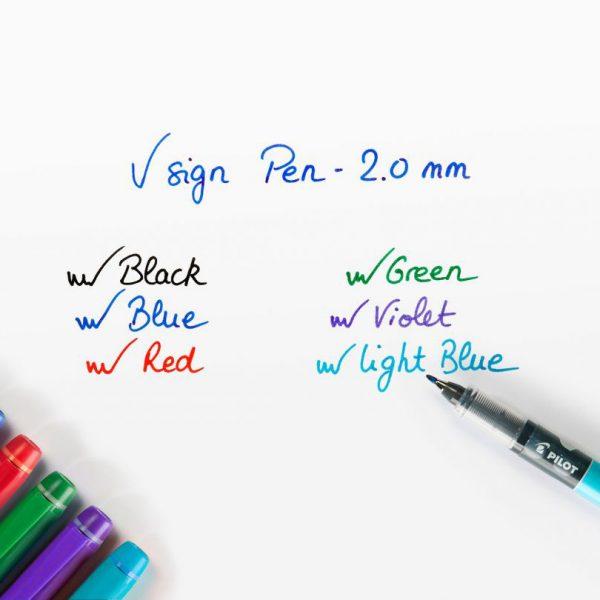 Ручка капиллярная Pilot V Sign Pen фиолетовая 2мм