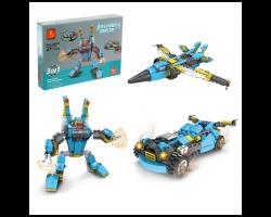 Конструктор Капитан «Робот-трансформер», 3 в 1, 271 деталь