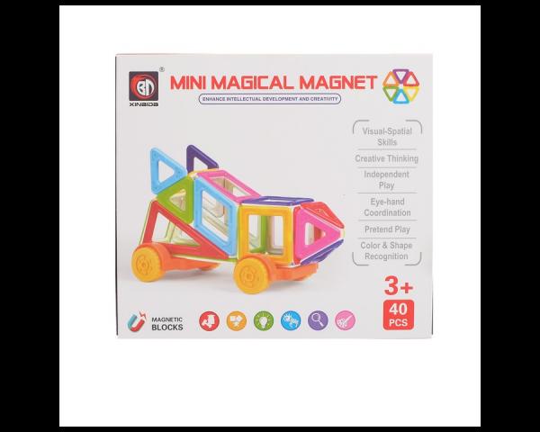Конструктор магнитный «Мини-магический магнит», 40 деталей
