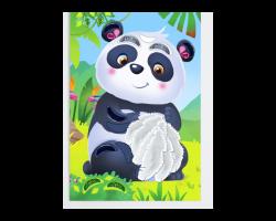 Мозаика перьями и стразами «Панда»
