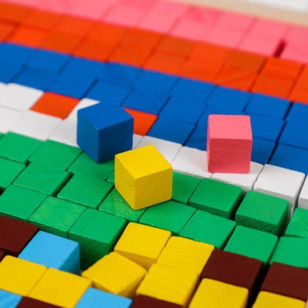 Мозаика. Цветные кубики «Транспорт»